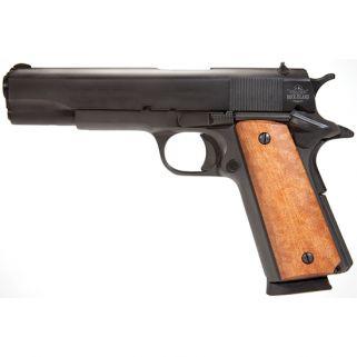 "Rock Island Armory 1911 GI 45ACP 5"" Barrel W/ Fixed Sights 8+1 Wood Grip/Parkerized 51421"