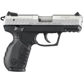 """Ruger SR22P 22LR 3.5"""" Barrel W/ 3 Dot Sights 10+1 Black/Silver 3607"""