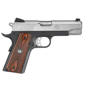 "Ruger SR1911 Commander 45ACP 4.25"" Barrel W/ Drift Adjustable Novak 3 Dot Sights 7+1 Stainless 6711"