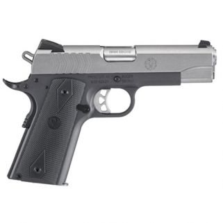 "Ruger SR1911 Lightweight Commander 4.25"" Barrel W/ Drift Adjustable Novak 3 Dot Sights 9+1 Black Rubber Grip/Stainless 6722"