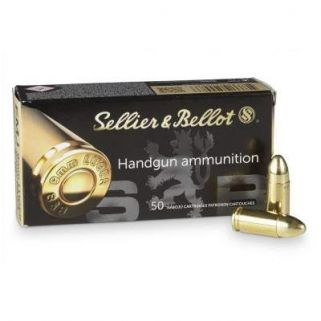 Sellier & Bellot 9mm 115 GR FMJ - 50 Rd Box SB9A