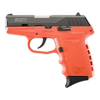 """Sccy CPX-2 9mm 3.1"""" Barrel No Thumb Safety Fixed Sights 10+1 Black/Orange CPX2CBOR"""