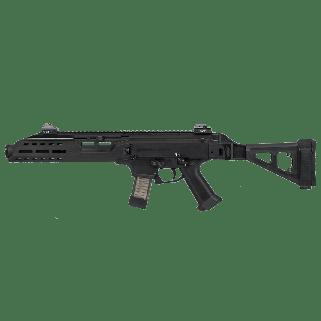 "CZ Scorpion Evo 3 S1 9mm 7.7"" Threaded Barrel w/Flash Can and Folding Brace 20+1 Black 91354"