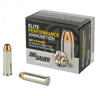 Sig Sauer Ep V-Crown 38 Sp+P 125 Grain JHP 20Rd Box E38SP1