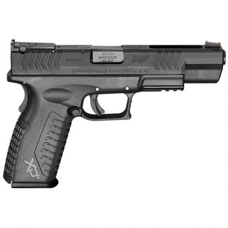 "Springfield Armory XDm Competition Essentials 45ACP 5.25"" Barrel W/ Fiber Optic Sights 10+1 Black XDM952545BE"