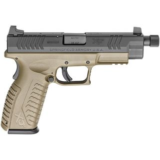 "Springfield Armory XDM 9mm 4.5"" Threaded Barrel W/ 3 Dot Sights 13+1 Flat Dark Earth XDMT9459FDEHCE"