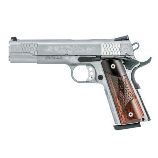 "Smith & Wesson 1911 45ACP 5"" Barrel 8+1 Wood Grip/Stainless 10270"