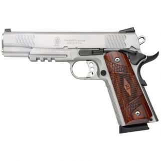 "Smith & Wesson 1911TA 45ACP 5"" Barrel W/ Tritium Night Sights 8+1 Wood Grip/Stainless 108411"