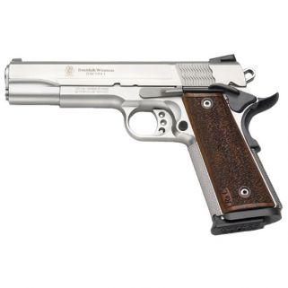 "S&W 1911 9mm 5"" Barrel 10+1 Wood Grip/Silver 178017"
