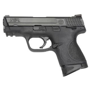 "Smith & Wesson M&P9 Compact 9mm 3.5"" Barrel W/ White Dot Dovetail Sights 12+1 Black 206304"