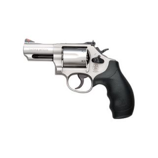 "Smith & Wesson 66 357 Magnum 2.75"" Barrel W/ Red Ramp/White Outline Sight 6Rd Rubber Grip/Stainless 10061"