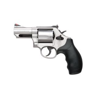 "Smith & Wesson 69 44 Magnum 2.75"" Barrel W/ Red Ramp/White Outline Sight Rubber Grip/Stainless 10064"