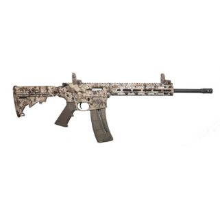 "Smith & Wesson M&P15-22 22LR 16.5"" Threaded Barrel W/ Flip Up Front and Rear Sights 25+1 Kryptek Highlander 10211"