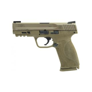 "Smith & Wesson M&P 2.0 9mm 4.25"" Barrel W/ TRUGLO Tritium/Fiber Optic Day/Night Sights 17+1 Flat Dark Earth 11767"
