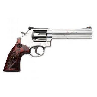 "Smith & Wesson 686 Plus Deluxe 357 Magnum 6"" Barrel 7Rd Wood Grip/Stainless 150712"