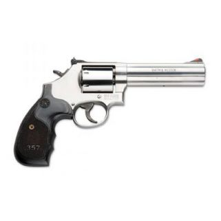 "Smith & Wesson 686 Plus Deluxe 357 Magnum 5"" Barrel 7Rd Wood Grip/Stainless 150854"