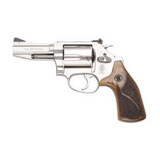 "Smith & Wesson 60 Pro Series 357 Magnum 3"" Barrel W/ Front Night Sight 5Rd Wood Grip/Matte Stainless 178013"