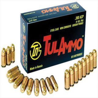TULA 380ACP 91GR FMJ STEEL CASE 50/20