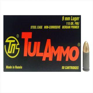 TULA 9MM 115GR FMJ 50/20 (STEEL CASED)