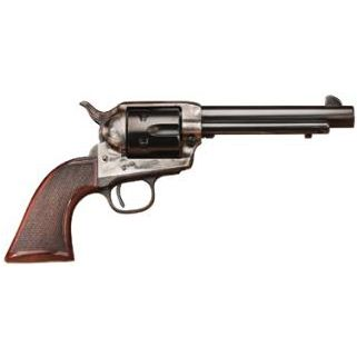 """Taylor's & Co The Smoke Wagon 357 Magnum 5.5"""" Barrel W/ Widened Front Blade Sights 6Rd Walnut Grip/Blued 4108DE"""