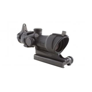 Trijicon ACOG 4x32 Tritium Only, Center Illuminated Amber .223 Crosshair Reticle w/ Backup Iron Sights, TA51 Mount TA01NSN