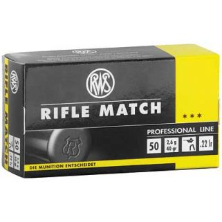 RWS 22LR RIFLE MATCH 40GR 50/5000