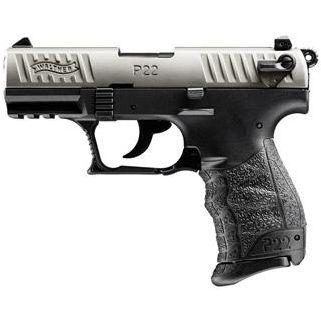 """Walther P22 22LR 3.4"""" Barrel Nickel 10+1 *CA Compliant* 5120336"""