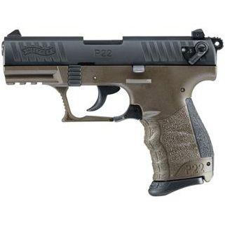 "Walther P22 22LR 3.4"" Barrel OD Green 10+1 *CA Compliant* 5120338"