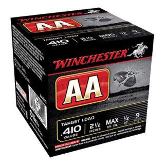 "Winchester AA Target Load 410 Gauge 9 Shot 2.5"" 25 Round Box AA419"