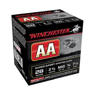 "Winchester AA Super Sport Sporting Clay 28 Gauge 7.5 Shot 2.75"" 25 Round Box AASC287"