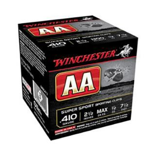 "Winchester AA Super Sport Sporting Clay 410 Gauge 8 Shot 2.5"" 25 Round Box AASC418"