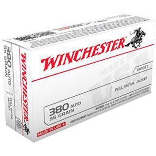 Winchester USA 380ACP 95 Grain FMJ 50 Round Box Q4206
