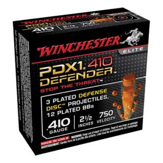 "Winchester PDX1 Defender 410 Gauge 3 Shot 2.5"" 10 Round Box S410PDX1"