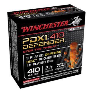 """Winchester PDX1 Defender 410 Gauge 3 Shot 2.5"""" 10 Round Box S410PDX1"""