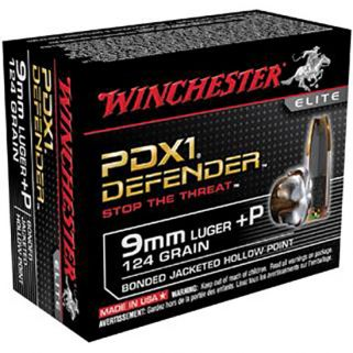 Winchester PDX1 Defender 9mm Luger 124 Grain 10 Round Box S9MMPDB