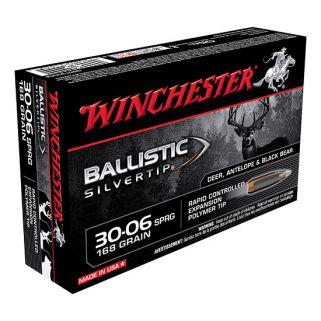 Winchester Ballistic Silvertip 30-06 Springfield 168 Grain 20 Round Box SBST3006A