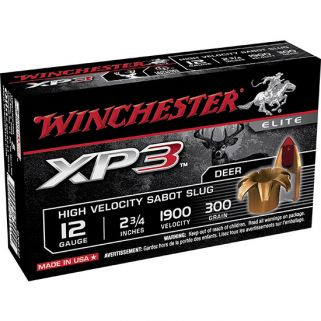 "Winchester Supreme Elite XP3 12 Gauge Sabot Shot 2.75"" 5 Round Box SXP12"
