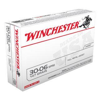 Winchester USA 30-06 Springfield 147 Grain FMJ 20 Round Box USA3006