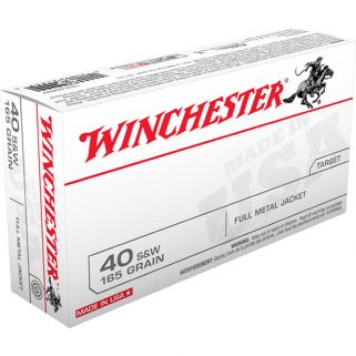 Winchester USA 40S&W 165 Grain FMJ 50 Round Box USA40SW