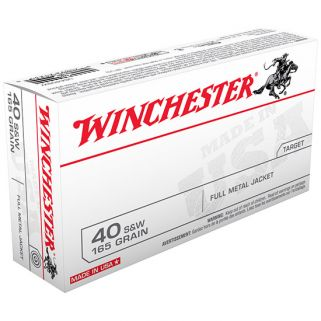 Winchester USA 40S&W 165 Grain FMJ 100 Round Pack USA40SWVP