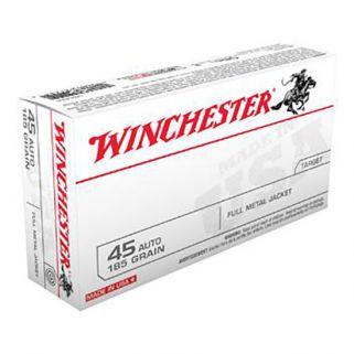 Winchester USA 45ACP 185 Grain FMJ 50 Round Box USA45A