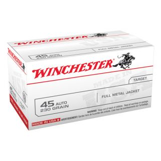 Winchester USA 45ACP 230 Grain FMJ 100 Round Box USA45AVP