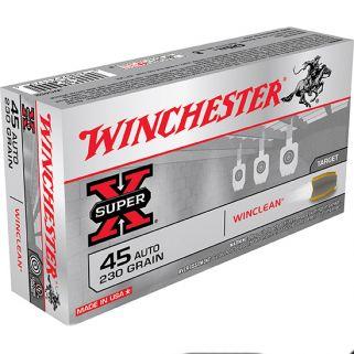 Winchester Winclean 45ACP 230 Grain Brass 50 Round Box WC452