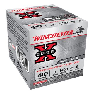 "Winchester Xpert Steel Shot 410 Gauge 6 Shot 3"" 25 Round Box WE413GT6"