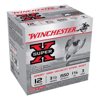 """Winchester Xpert Steel Shot 12 Gauge 3 Shot 3.5"""" 25 Round Box WEX12L3"""