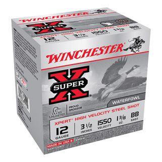 "Winchester Xpert Steel Shot 12 Gauge BB Shot 3.5"" 25 Round Box WEX12LBB"