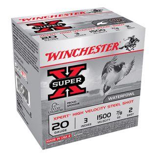 """Winchester Xpert Steel Shot 20 Gauge 2 Shot 3"""" 25 Round Box WEX2032"""