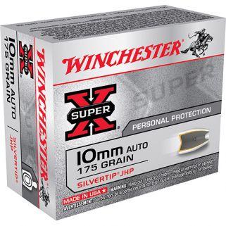 Winchester Super-X 10mm AUTO 175 Grain 20 Round Box X10MMSTHP