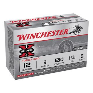 """Winchester Super-X Turkey Load 12 Gauge 5 Shot 3"""" 10 Round Box X123MT5"""