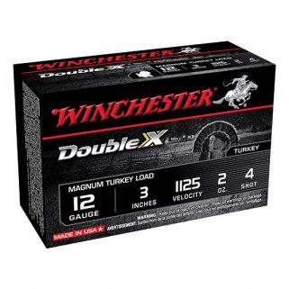 """Winchester Supreme Double X Magnum Turkey Load 12 Gauge 4 Shot 3"""" 10 Round Box X123MXCT4"""